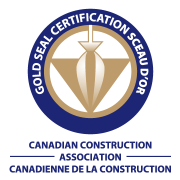 Gold Seal Certification from Canadian Construction Association (CCA)